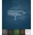 pointer to Miami icon Hand drawn vector image