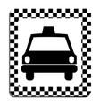 border taxi front car icon vector image
