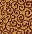 Brown stylish spiral curls on brown background vector image