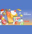 3d conceptual mobile vector image