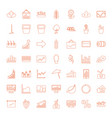 49 growth icons vector image vector image