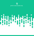 abstract green pastels color geometric rounded vector image vector image