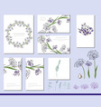 aqllium set with visitcards and greeting templates vector image vector image
