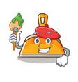 artist dustpan character cartoon style vector image