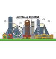 australia brisbane city skyline architecture vector image