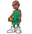 basketball player with attitude vector image vector image