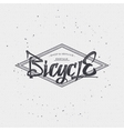 Bicycle badge insignia for any use such as signage vector image vector image