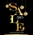 black friday sale banner design vector image vector image