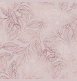 branches rose gold elegant texture vector image vector image