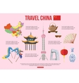 China travel background with place for text Set vector image vector image