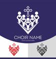 choir christian church vector image vector image