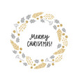 christmas plants laurel greeting card vector image vector image
