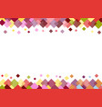colorful border of squares on white background vector image