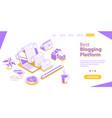 creative blogging content marketing strategy blog vector image