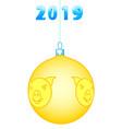 cristmas ball icon vector image
