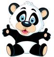 cute cartoon panda posing vector image vector image
