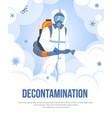 decontamination viral and bacterial sanitizing vector image