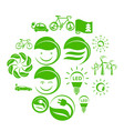 ecology simple icons set vector image vector image
