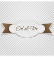 Eid al-Fitr decorative paper Tag vector image