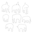 elephent vector image vector image