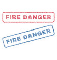 fire danger textile stamps vector image vector image