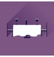 Flat web icon with long shadow romantic dinner vector image vector image