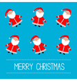 Funny cartoon Santas Blue background vector image