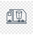 garbage truck concept linear icon isolated on vector image