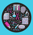 genome research round concept in flat style vector image vector image