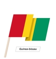 Guinea-bissau Ribbon Waving Flag Isolated on White vector image vector image