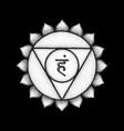 hand drawn chakra vishuddha vector image vector image