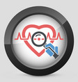 heart medical exam vector image