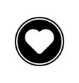 heart round glyph icon user interface icon vector image