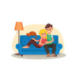 home cinema home room with tv screen vector image vector image