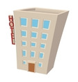 Hotel building cartoon icon vector image vector image