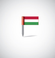 Hungary flag pin vector image vector image