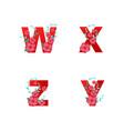 I alphabet made flowers leaves