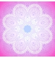 Indian ornament mandala in pink vector image