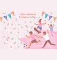 international children day card vector image