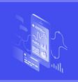 isometric banking app vector image