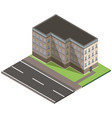 isometric building city 3d icon design house vector image