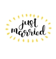 Just married Brush lettering vector image