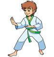 karate stance boy vector image vector image