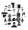kirk icons set simple style vector image vector image