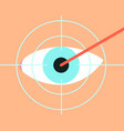 laser vision correction vector image