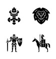 medieval glyph icons set vector image vector image