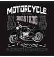 Motorcycle Racing Typography California Motors vector image