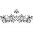 Ornamental border frame Baroque pattern seamless vector image vector image