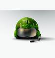 pilot jet marines helmet aviator vector image