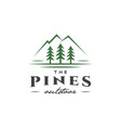 pines tree outdoor logo vector image